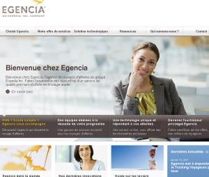 capture d'écran d'egencia.fr