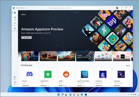 Windows11 : 50premières apps Android en bêta