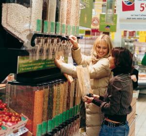 les bacs distributeurs permettent au client de choisir la juste quantité