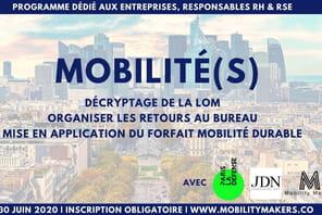 Loi mobilités, forfait mobilités...  assistez à la table ronde animée par le JDN