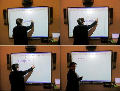 l'écriture cursive telle que pratiquée à l'école primaire est secondée