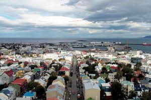 une vue d'islande.