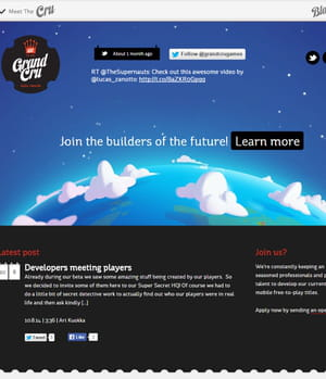 grand cru développe des jeux pour mobile.