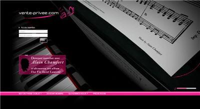 page d'accueil du site vente-privee.com