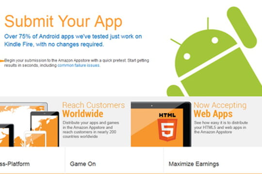 Appstore d'Amazon: le portail pour les développeurs refondu