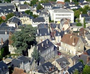une vue de bourges, dans le centre.