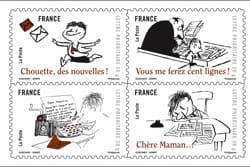 un carnet de timbre à l'effigie du petit nicolas est sorti fin septembre.
