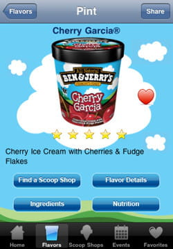 l'application ben & jerry's scoop of happiness