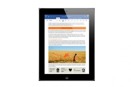 Office pour iPad téléchargé plus de 12 millions de fois