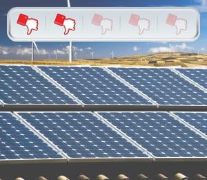 la production d'énergie photovoltaïque a triplé de 2009 à 2010... mais elle a