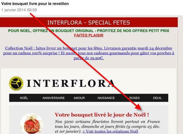 interflora garantit le 1er janvier une livraison le jour de no l. Black Bedroom Furniture Sets. Home Design Ideas