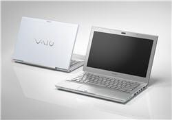 un ordinateur portable de la série vaio.