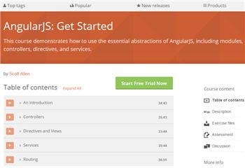 table des matières du coursintroduisant angular.js