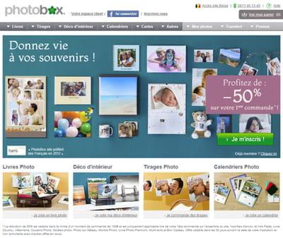 photobox après l'a/b test : un taux d'inscription qui a augmenté de 14%.