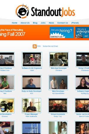 capture d'écran de l'ancien site de standout jobs.