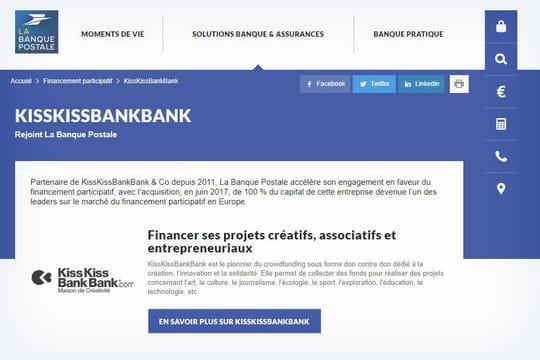 KissKissBankBank et La Banque Postale: mariés, 2chantiers