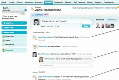 chatter de salesforce a été lancé officiellement en novembre 2010