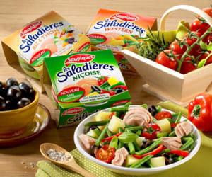 la gamme saladière de saupiquet.
