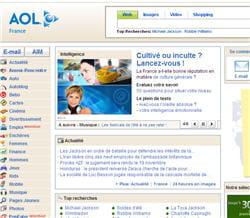 page d'accueil du site aol.fr