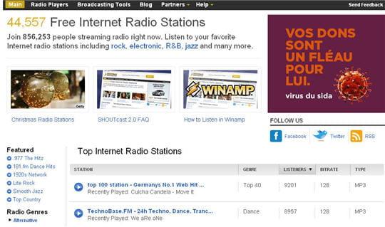 Shoutcast Webradio