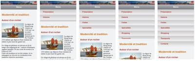 figure 9-9 l'animation du menu en mode 'smartphone', grâce à la propriété css3