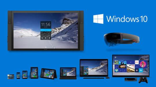 Windows 10 équipe 8millions de PC professionnels