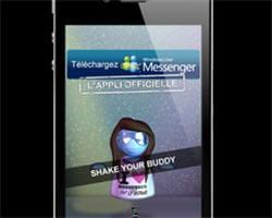 la publicité pour messenger dans l'application dailymotion.