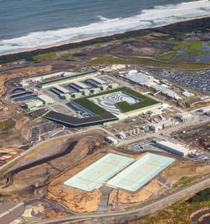 la centrale de dessalement d'eau de degrémont à melbourne.