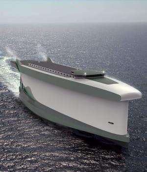 levindskip utilise la coque du bateau comme voile.