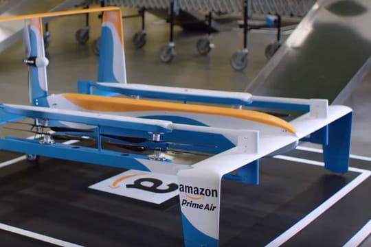 Voici le nouveau drone d'Amazon en vidéo !