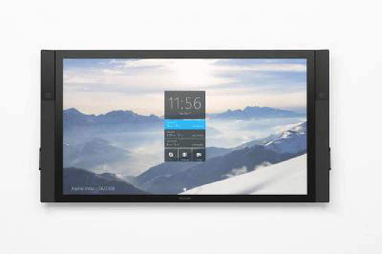 windows 10 microsoft pr sente sa tablette g ante surface hub. Black Bedroom Furniture Sets. Home Design Ideas