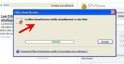 le filtre smartscreen