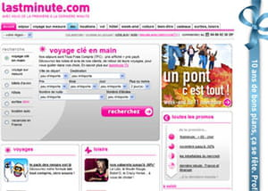 page d'accueil lastminute