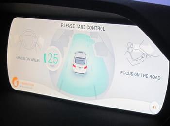 dès que la voiture détecte qu'elle va devoir sortir du mode autonome, celle-ci