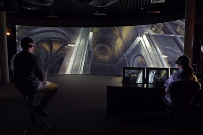 simulation d'un projetpour illuminerl'abbatiale de figeac, au sein de la salle