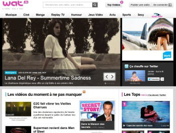 page d'accueil de wat tv