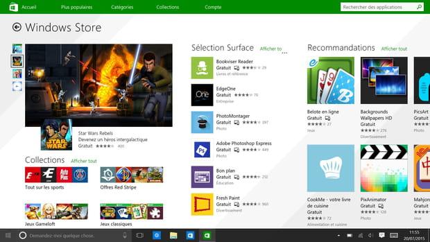Un Windows Store unifié pour Windows 10 et Windows 10 Mobile