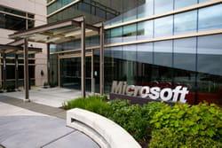 l'entrée du grand 'building 99', au siège de microsoft, à redmond.