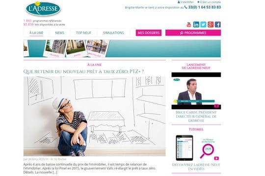 Immobilier : L'Adresse lance un site regroupant les offres de 190 promoteurs