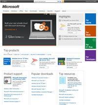 le site microsoft.com regroupe les annonces et les différentes offresde
