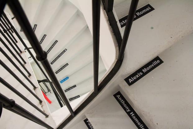 Escaliers dédicacés