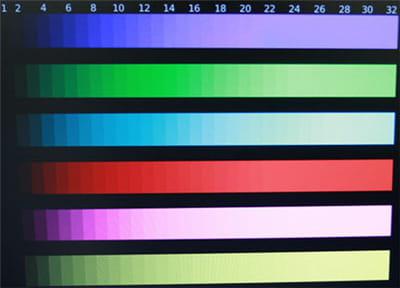 la restitution des couleurs du t260 hd : très bon dans les foncés, moins fin