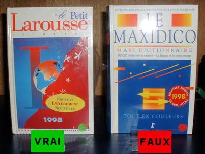 le dictionnaire larousse et sa copie, le maxidico.
