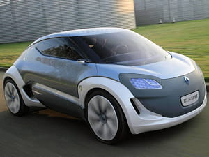 le concept de véhicule électrique zoe, de renault.