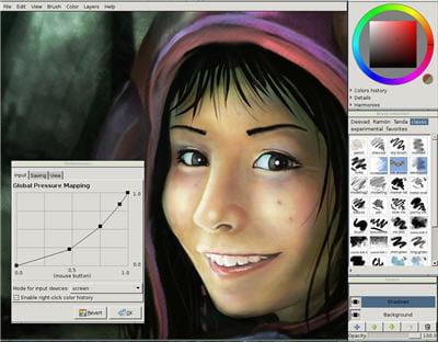 copie d'écran du logiciel proposé sur le site mypaint.