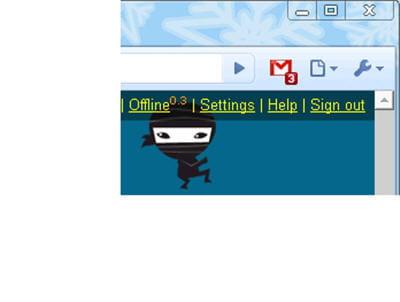 copie d'écran illustrant un nouveau mail signalé parl'application.
