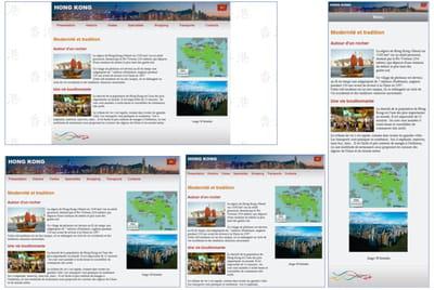 figure 9–7 le site sur hong kong dans sa version adaptative, qui est notre