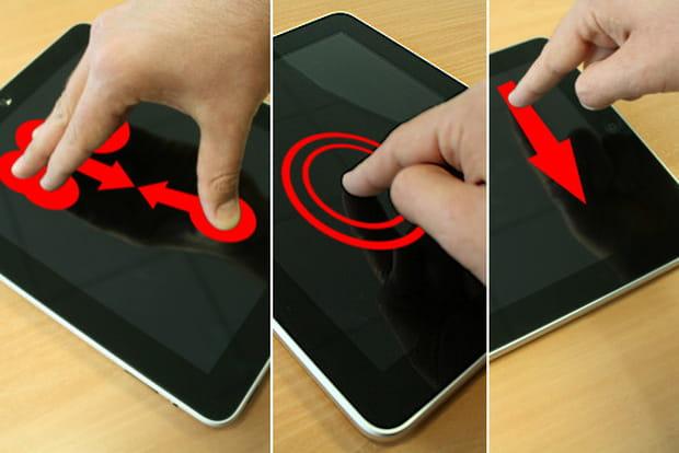 Gestes interfaces tactiles