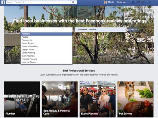 Facebook lance un nouveau concurrent de Yelp