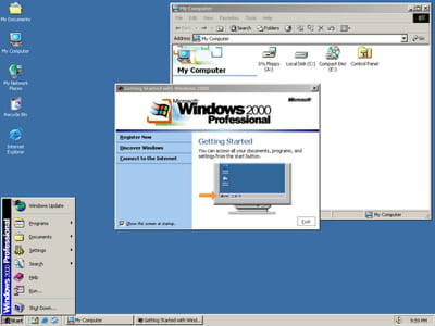 exemple de multi-fenêtrage sous windows 2000.